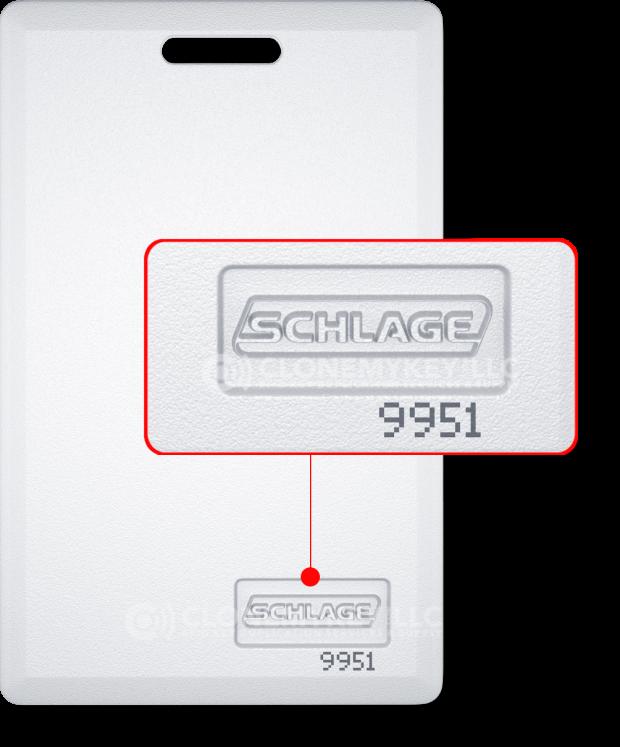 Schlage 9951 Key Card (RFID)