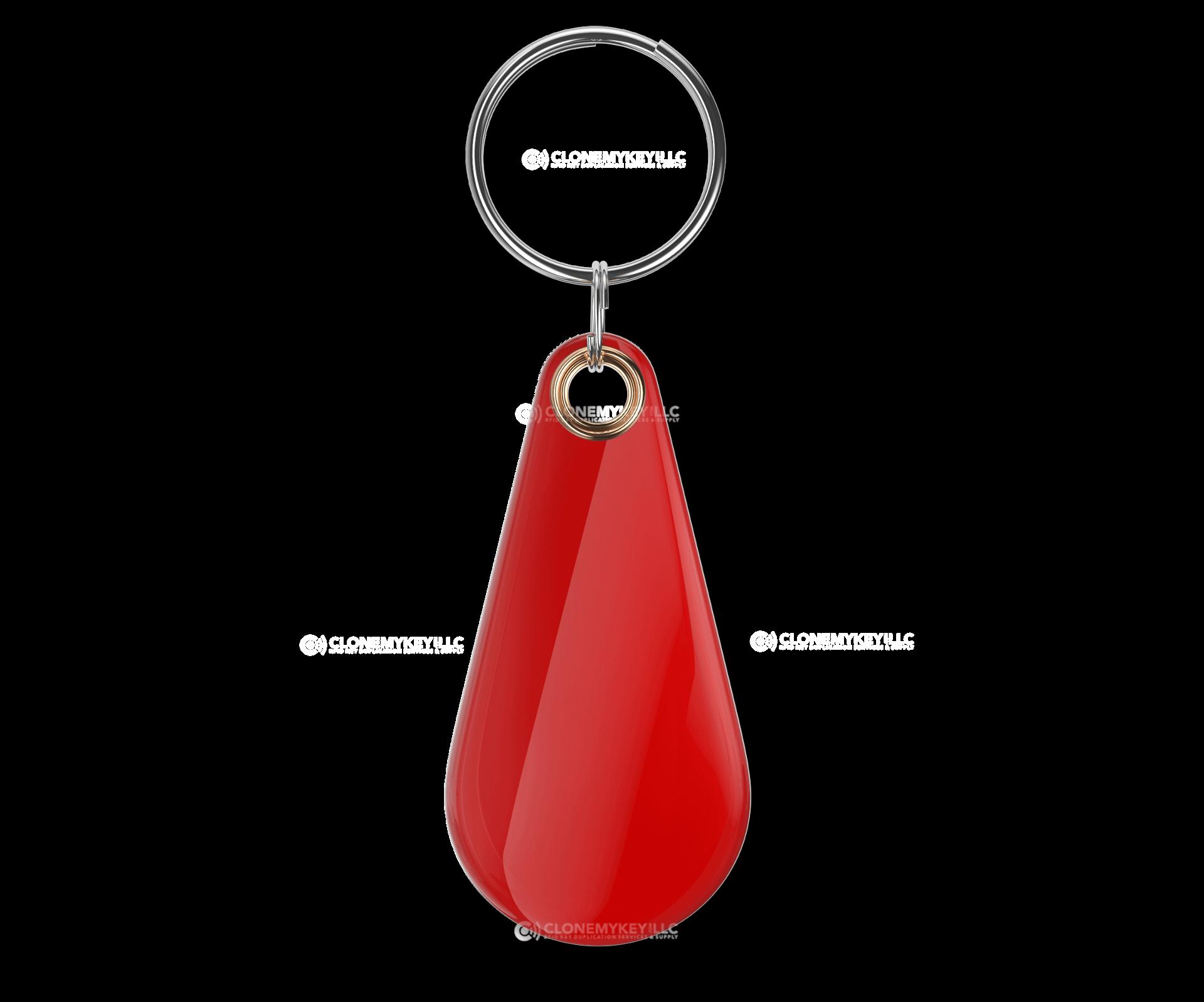 RFID Epoxy Thin Red Key Fob Blank
